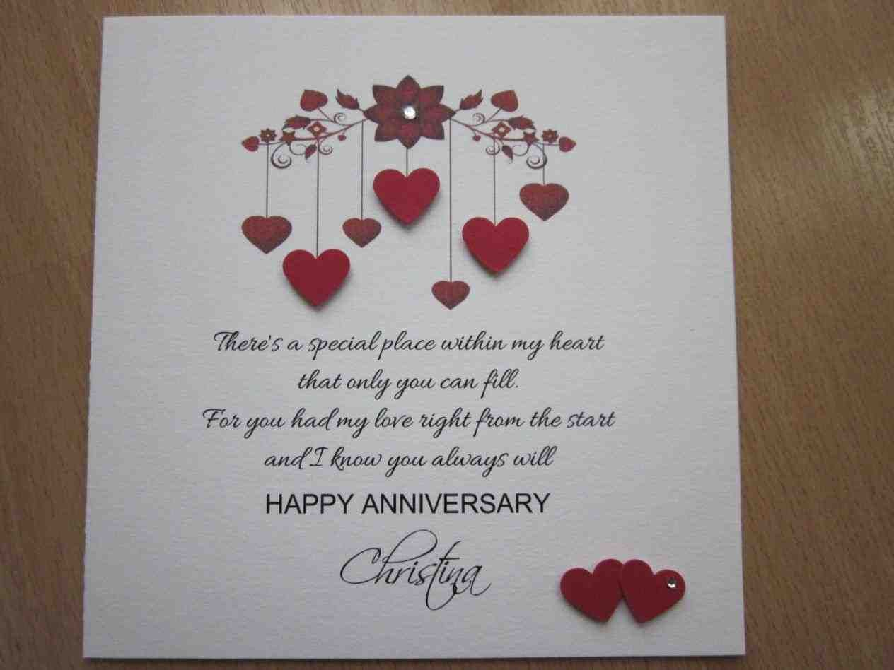White Cotton Cards Wb To My Husband On Our Anniversary