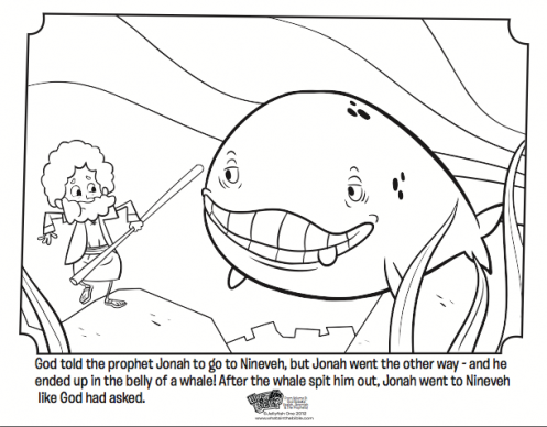 It is a picture of Insane Free Printable Jonah and the Whale Coloring Pages