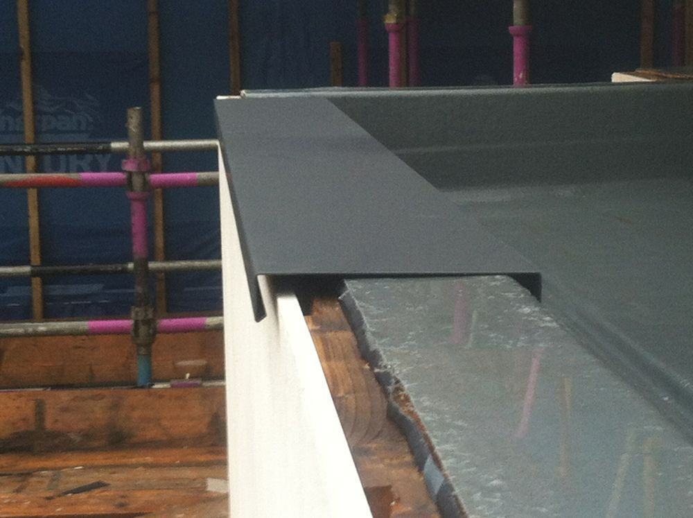 Parapet Capping In Aluminium Now Being Installed New