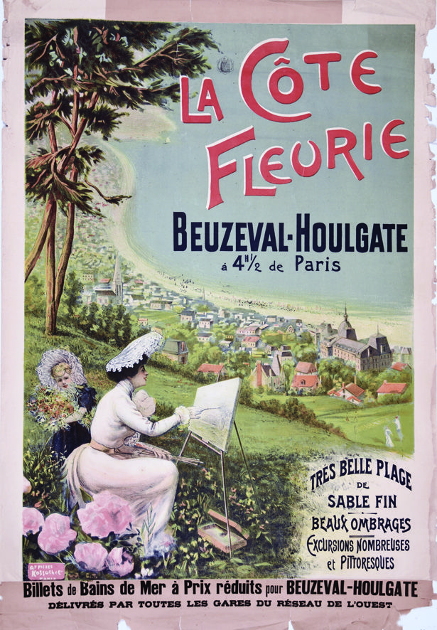 Beuzeville - Houlgate vers 1900 Vintage Poster Affiches ...