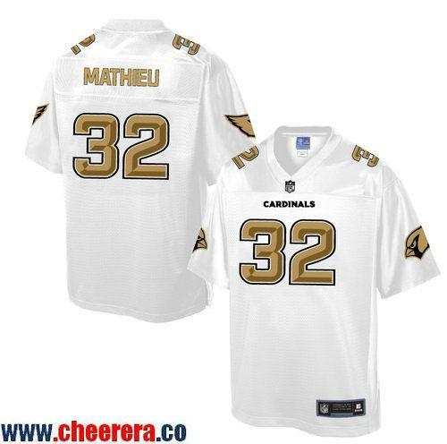Discount Men's Arizona Cardinals #32 Tyrann Mathieu White Gold Printed NFL
