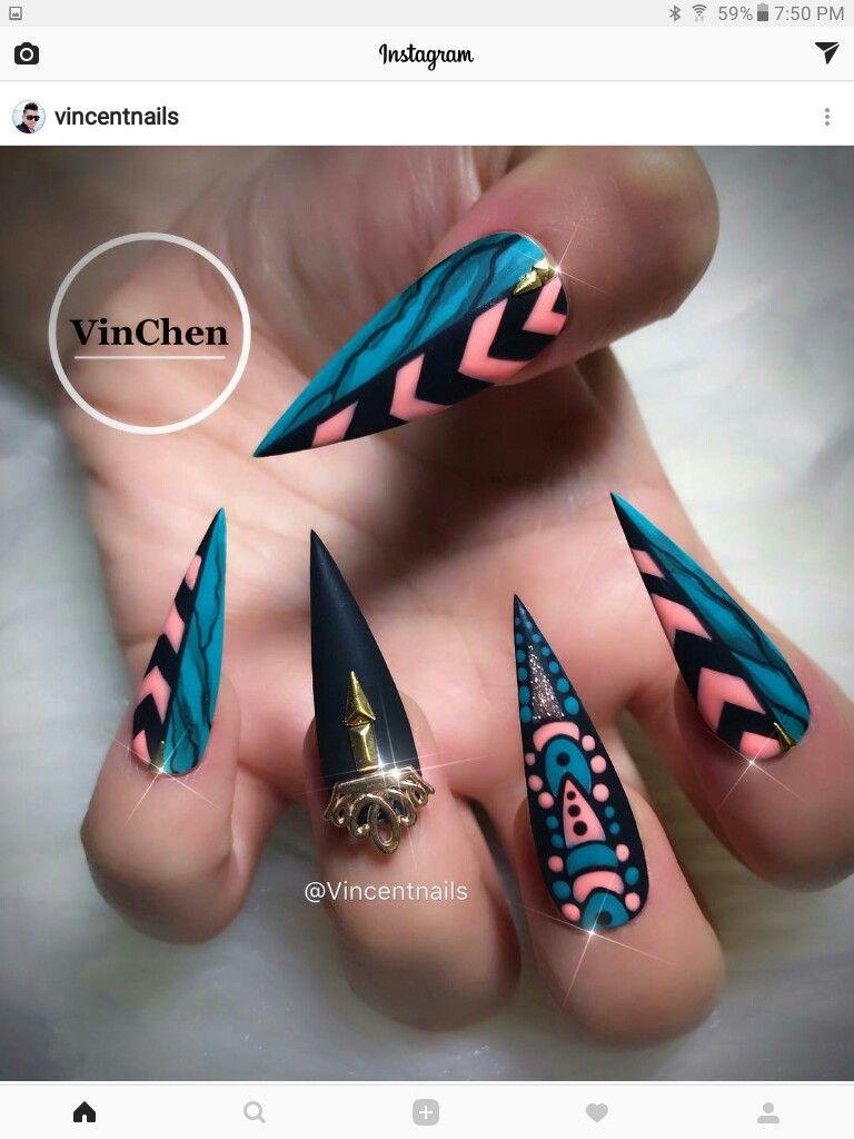 ♕PINTEREST:💎KIANIA💎 | CLAW COUTURE | Pinterest | Nail nail, Long ...
