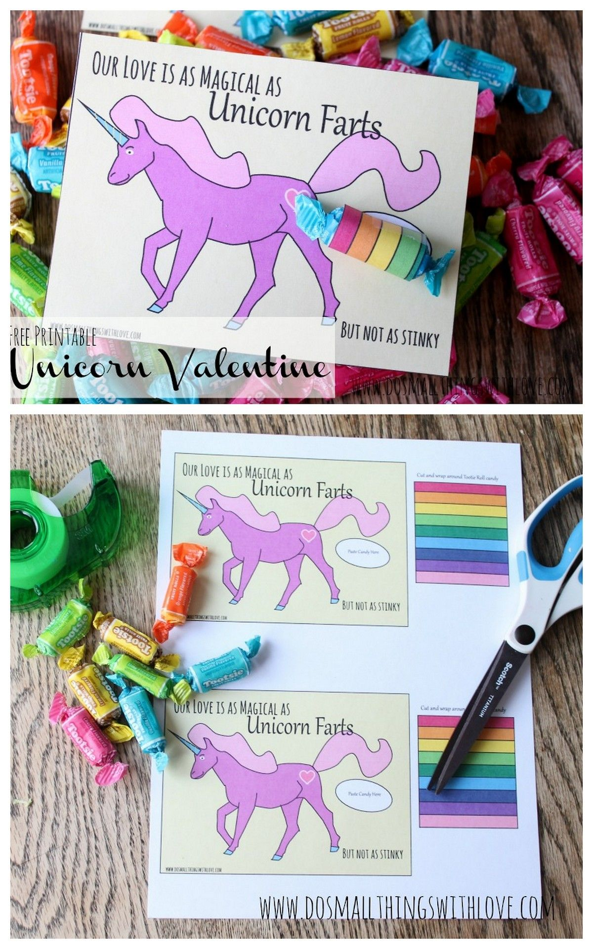 Diy Rainbow Farting Unicorn Printable From Do Small Things With Love Our Love Is Asmagical As