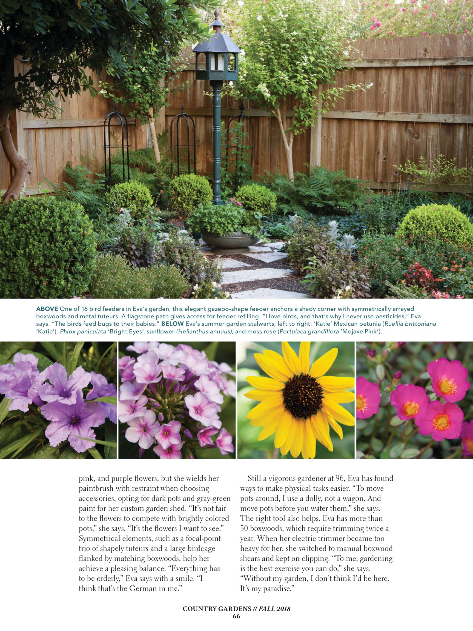 An Artist S Touch From Country Gardens Magazine Fall 2018 Read