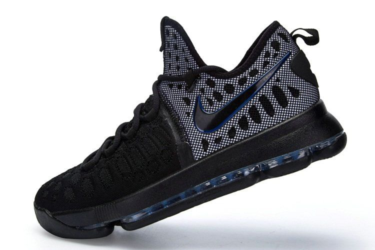 Sale New KD 9 IX Flyknit All Black Kevin Durant Shoes 2017