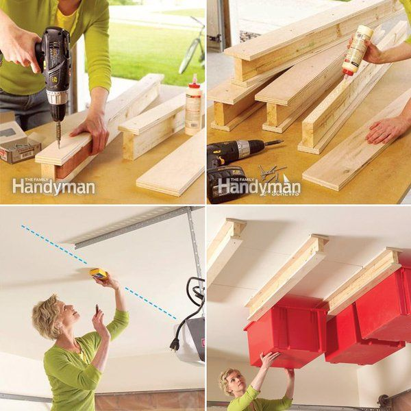 How To Make Garage Ceiling Sliding Storage   DIY U0026 Crafts   Handimania