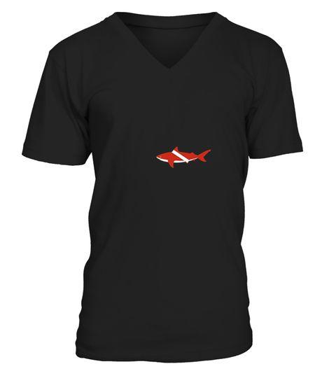 Immersioni Con Gli Squali Bandiera T-shirt ISugwM