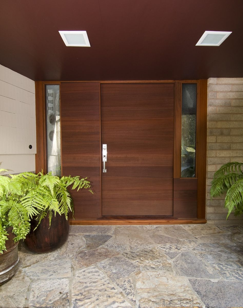 Custom Made Front Entry Door With Horizontal Grain By Michael Meyer