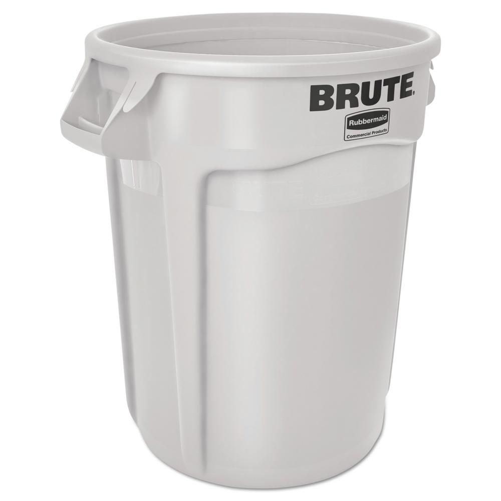 Rubbermaid Commercial Products Brute 10 Gal White Round Trash Can Rcp2610whi 32 Gallon Trash Can Garbage Can Canning