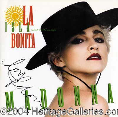 Madonna Original Record Single For La Isla Bonita Boldly Signed On The Cover By The Material Girl In Black Felt Tip Marker Madonna Madonna Videos Album Covers