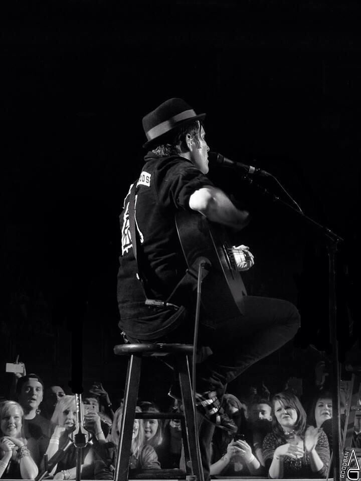 Patrick Stump. This was taken from in the audience, such a good photo!