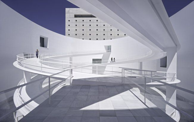 This one is a super-cleaen lines contemporary building in Spain, which arguably has some of the world's most interesting architecture. Project - The Ma: Andalucia's Museum of Memory - Architizer