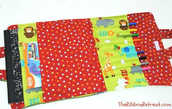 Coloring Book And Crayon Holder Tutorial Diy Coloring Books Kids Coloring Books Crayon Book