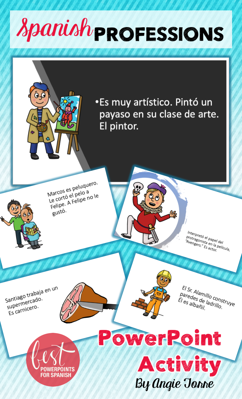 Spanish Professions Competition Paired Activities Interactive Notebook Activities Google Drive Activities