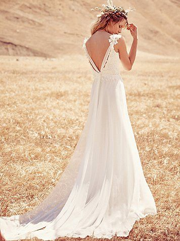 Free People Vida Gown Boho Wedding Dress Lace Lace Princess Wedding Dresses Free People Wedding Dress