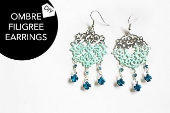 DIY Ombre Filigree Earrings | Chic Steals