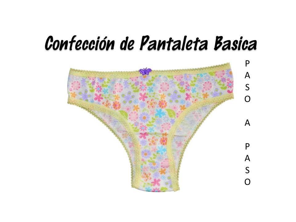 090aa2a25020 Confección de Pantaleta Básica | Pantaletas de niñas | Pantaleta ...