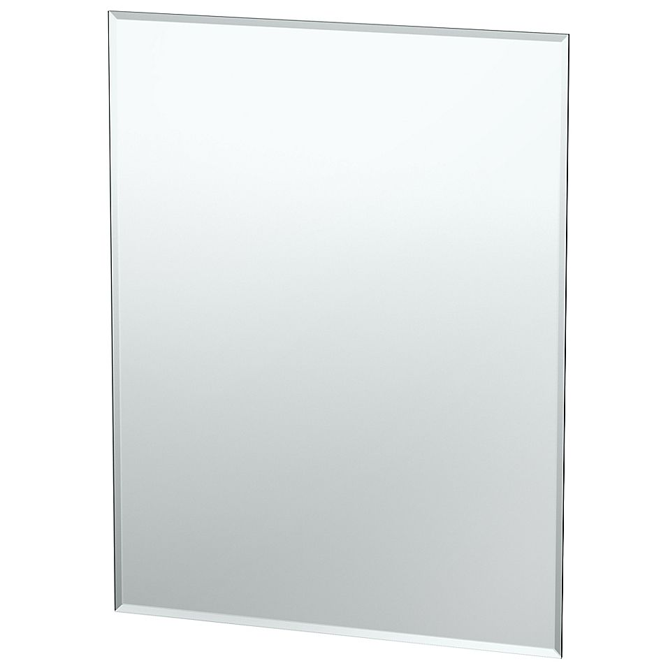 Gatco 35 5 Flush Mount Frameless Rectangular Mirror Wall