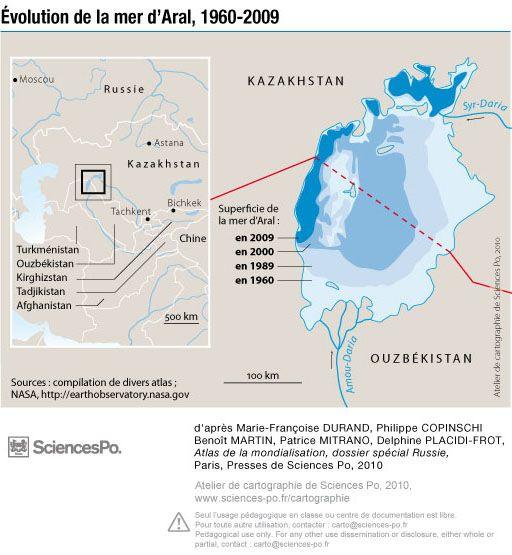 Mer d'Aral - évolution 1960-2009