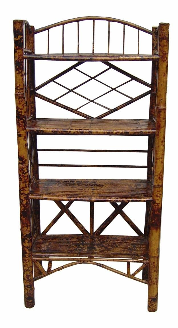 Chinese antique oriental bamboo library bookcase, View distressed ...