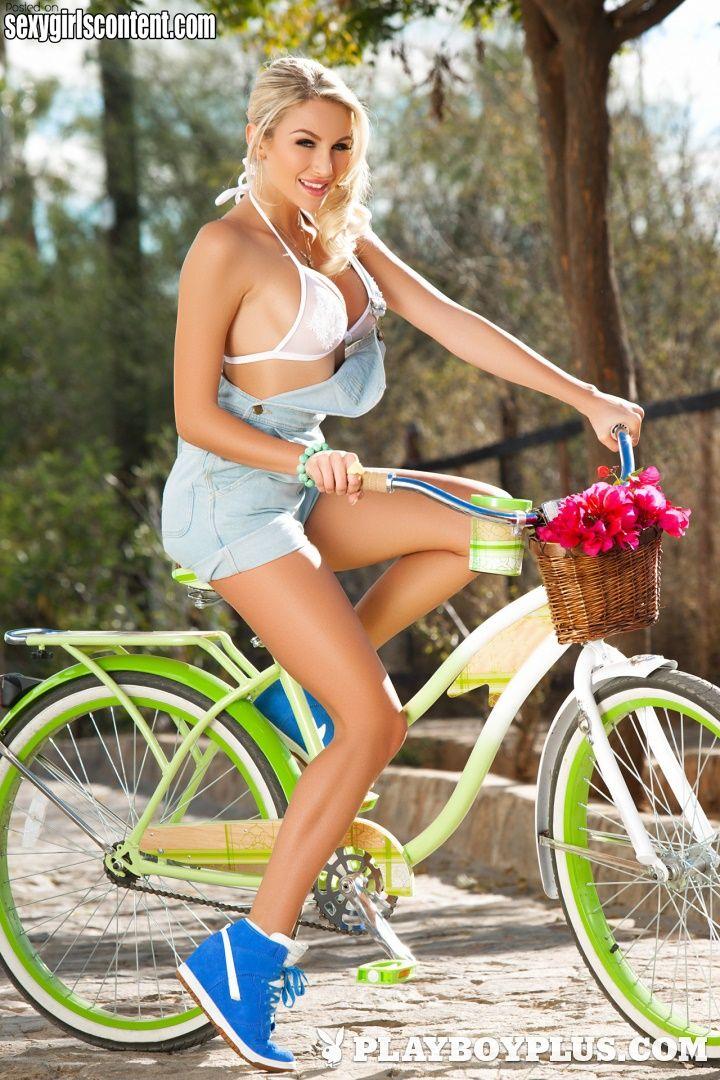4 Lovely Hot Blonde Babe Khloe Terae Riding Bike Big Boobs -5472