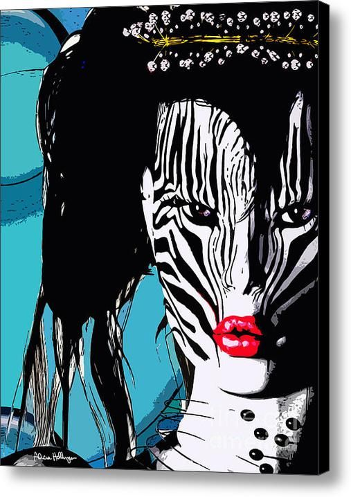 Zebra Girl Pop Art Canvas Print / Canvas Art By Alicia Hollinger  Watermark not on actual products #AliciaHollingerArt