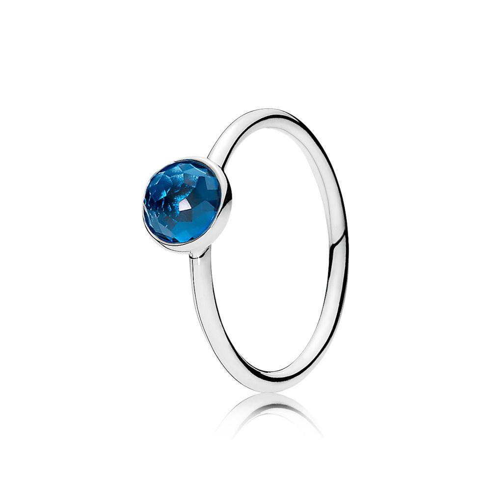 Pandora December Birthstone Earrings: December Droplet Birthstone Ring - Pandora UK