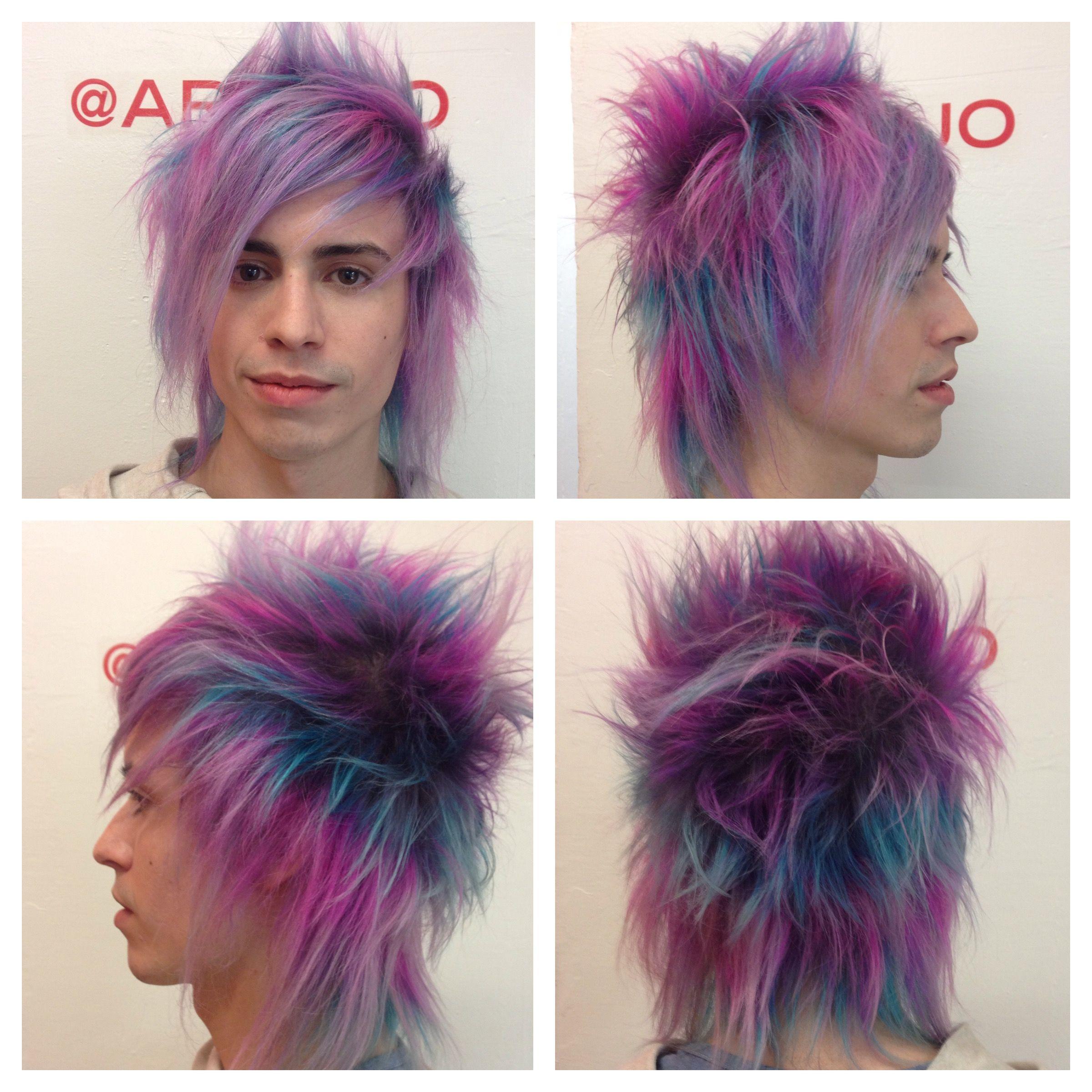 Creative Razor Haircut Razor Mens Hairstyle Mens Haircut Pink - Razor haircut
