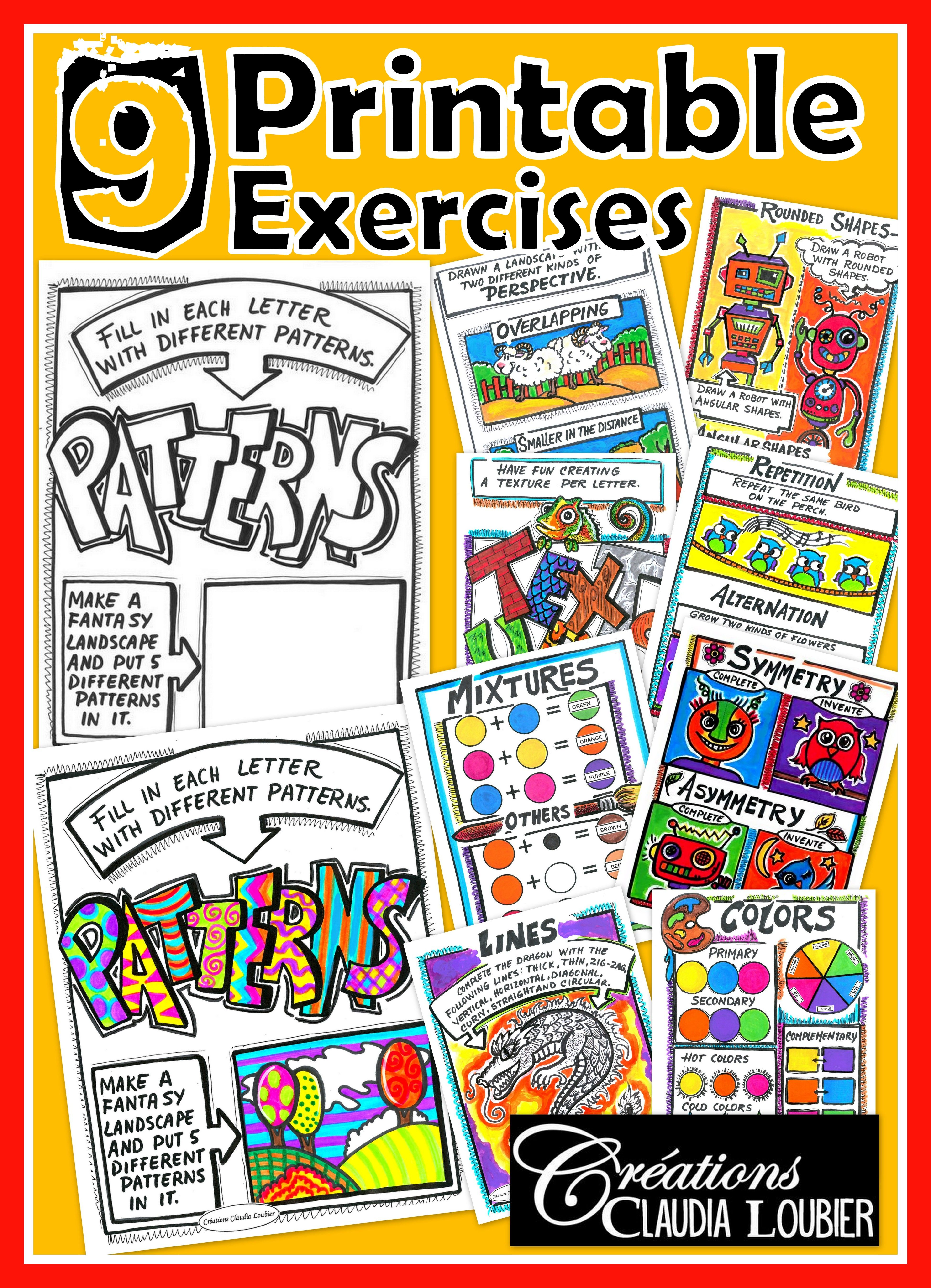 Elements Of Art 9 Printable Exercises