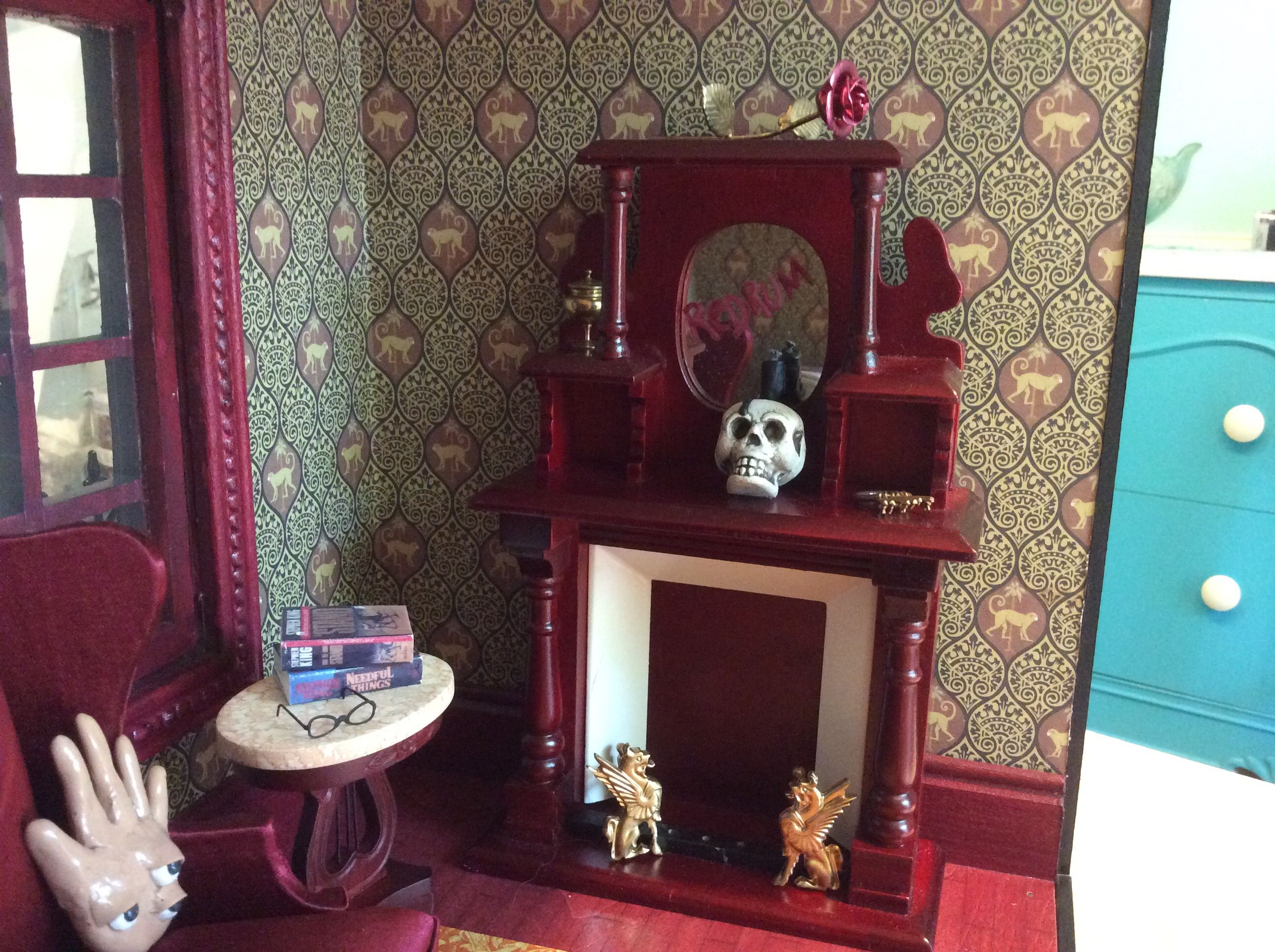 Inside my ode to Stephen King miniature house built by ...