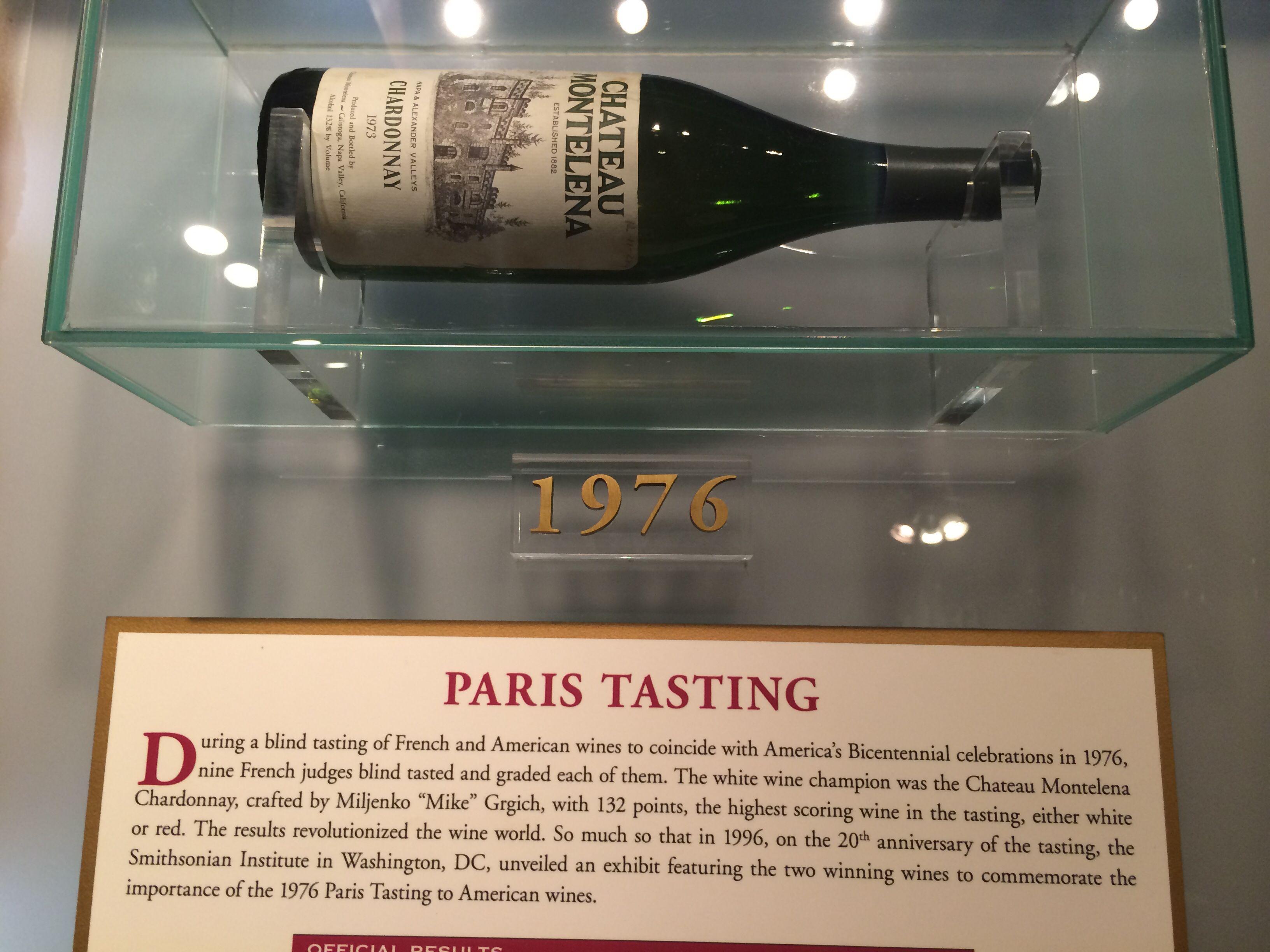 This wine won the Judgement of Paris in 1976.