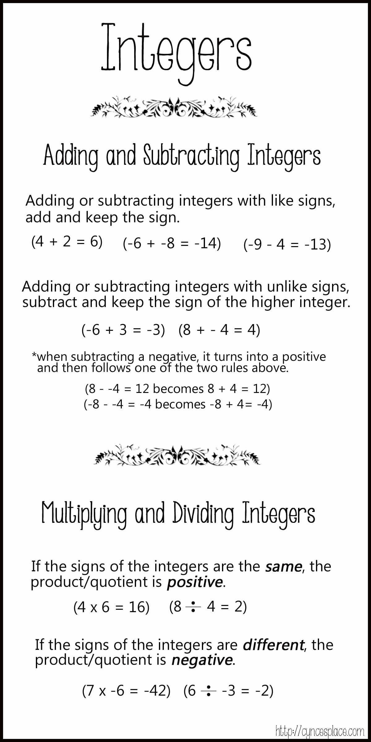 50 Multiplying And Dividing Integers Worksheet In
