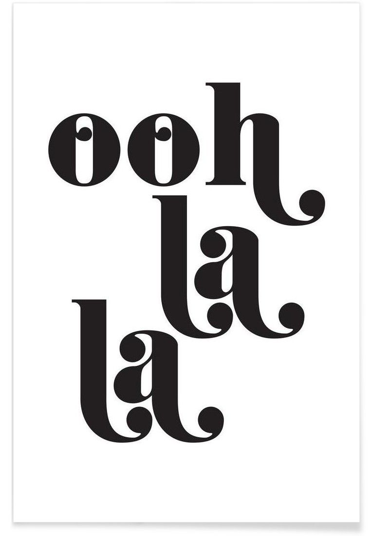 Ooh La La VON Letters on Love now on JUNIQE! | Drucke | print ...