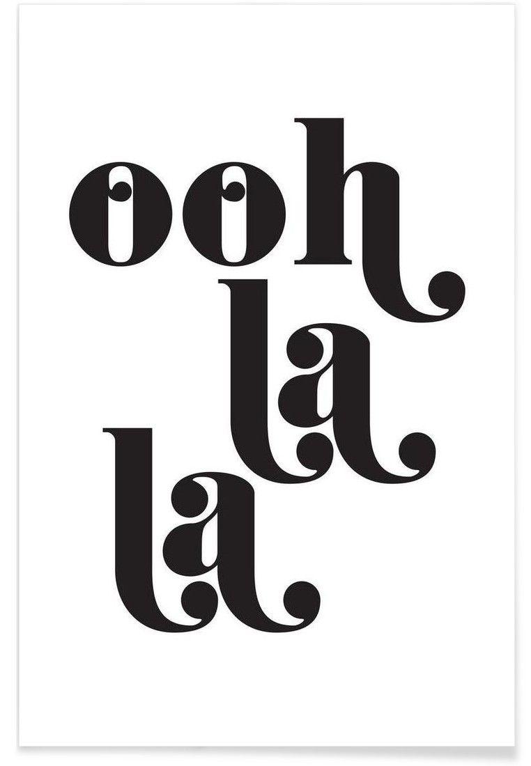 Ooh La La Von Letters On Love Now On Juniqe Home Sweet Home  # Oohlala Muebles Y Accesorios Infantiles