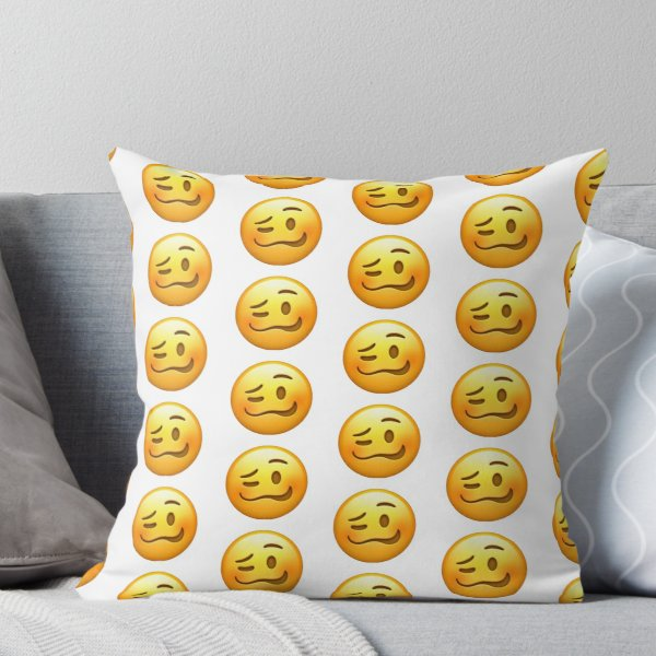 'woozy face emoji' Throw Pillow by emiliarobinson