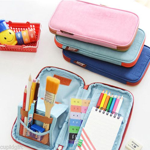 931c88774b Folding Pencil Case Ver.2 Multi Pen Pocket Case Pouch Holder Bag Zipper  Phone