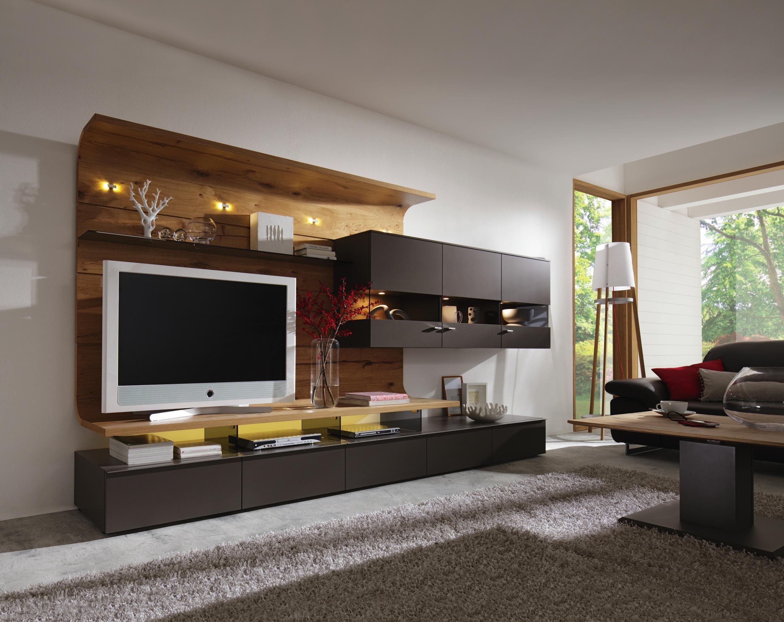 Fabelhaft Hochwertige Wohnwand Beste Wahl - Die Geschmackvolle Einrichtungsidee Aus Furnierter Eiche
