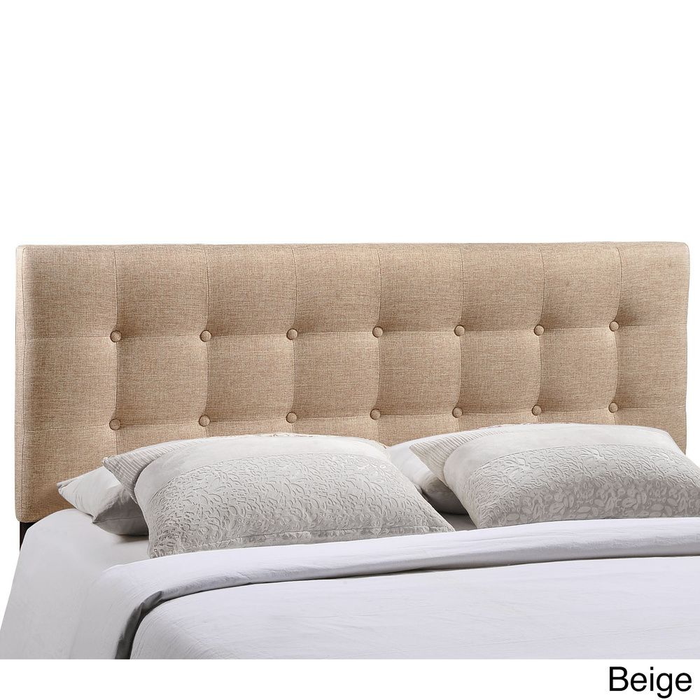 Queen $129.99 Quad Button-tufted Fabric Queen Headboard - Overstock™ Shopping - Big Discounts on Modway Headboards
