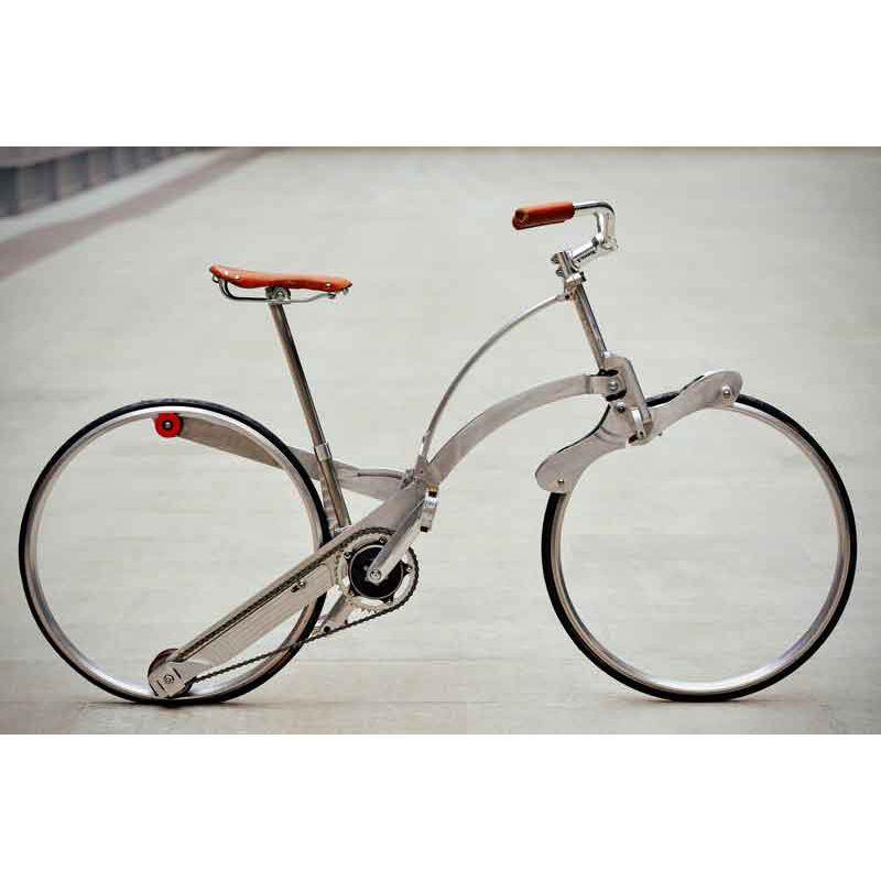 スポークのない車輪 折りたたみ自転車の革命 Sada Bike 折りたたみ自転車 自転車 自転車のデザイン