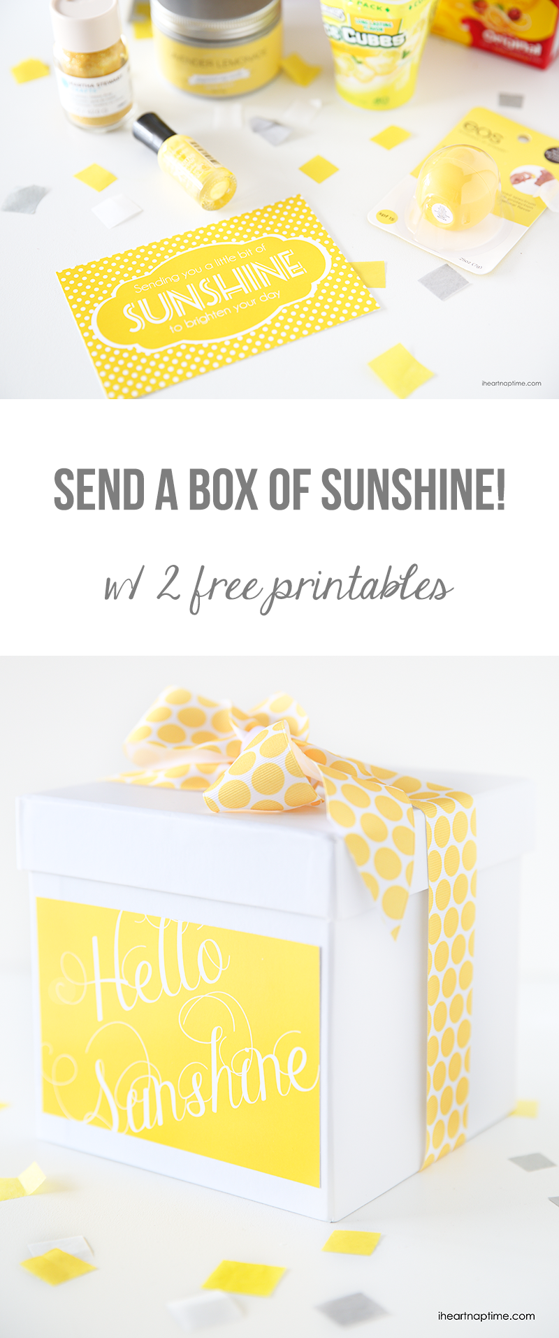 photograph about Box of Sunshine Printable named Ship a box of sun Absolutely free printables PINS I Delight in Box