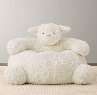 Babies · Textured Plush Lamb Chair ...