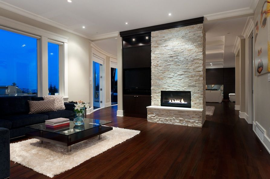 Modern Stone Fireplaces lori i really like the look of this fireplace wall with the stone