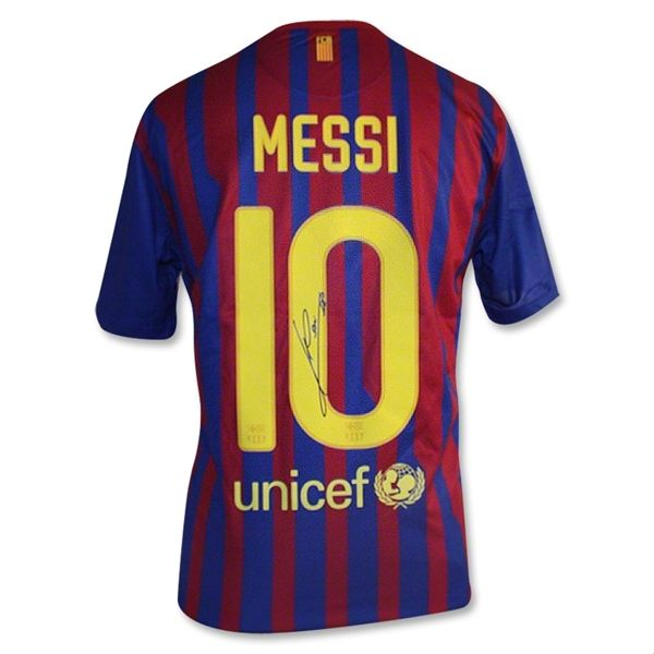 Messi Signed Barcelona Jersey