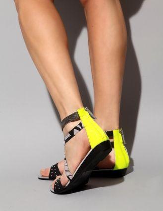 neon tribal sandal ++ matiko...grellow