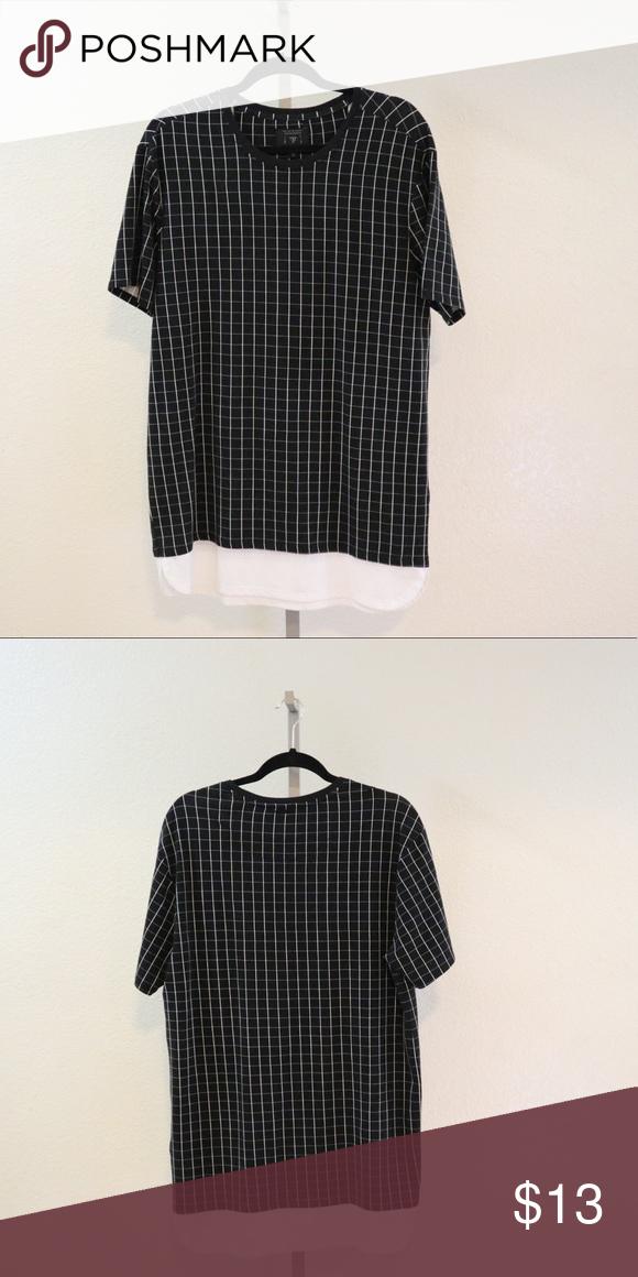 d7255589b7 Guess Black White Checked T-Shirt Dress Size Medium Guess Dresses