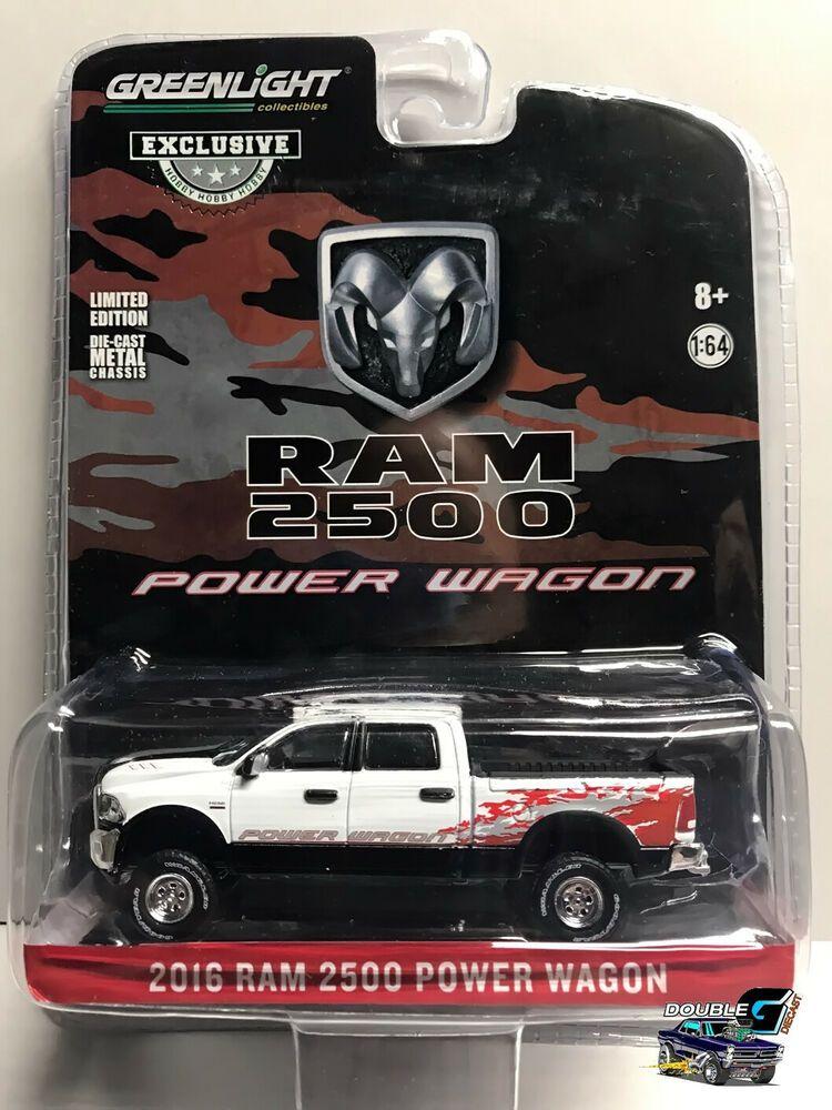 1 64 Greenlight 2016 Ram 2500 Power Wagon 29982 Hobby Exclusive White Clearcoat Greenlight Dodge Power Wagon Wagon Ram 2500