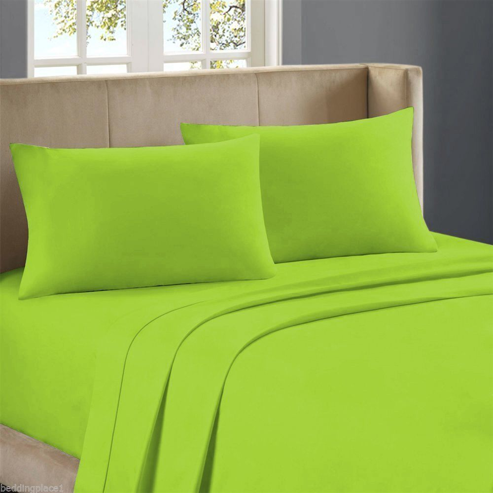 Plain Dyed Fitted Sheet 50/50 Poly Cotton Bed Sheet Single Double U0026 King  Sizes | Home, Furniture U0026 DIY, Bedding, Bed Linens U0026 Sets | EBay!