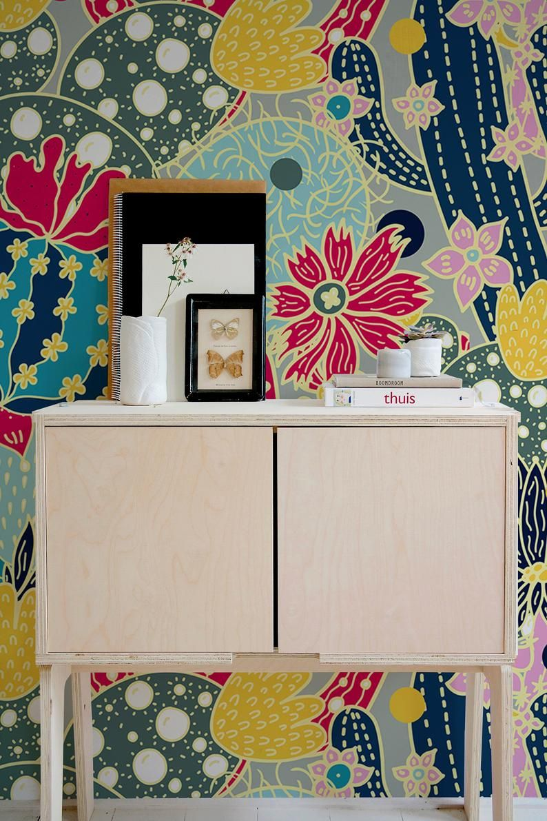 Removable Wallpaper Peel And Stick Wallpaper Wall Paper Wall Etsy In 2020 Peel And Stick Wallpaper Removable Wallpaper Wall Wallpaper