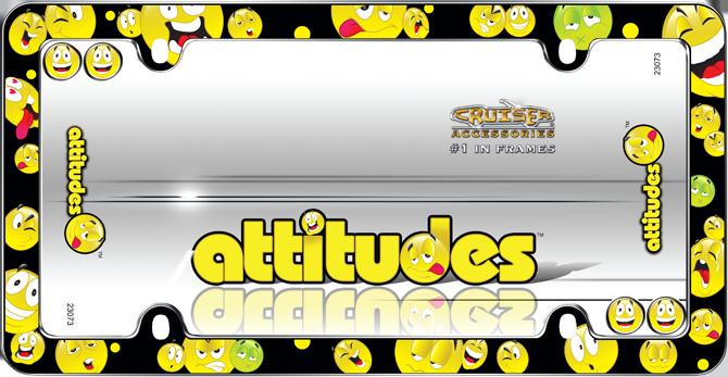 Attitudes, Chrome with fastener caps License Plate Frame