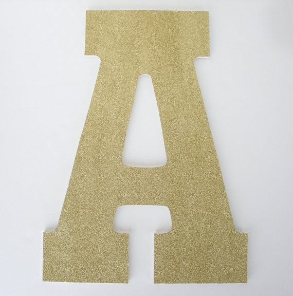 Gold Glitter Letters Wooden Nursery For Baby Girl Large 13 Inch Letters Custom Wedding Decoration Ideas Baby Shower Gift Wood Initial Wooden Letters Glitter Letters Lettering